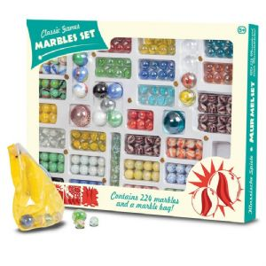 Classic Games Marble Set - Box of 224 Marbles